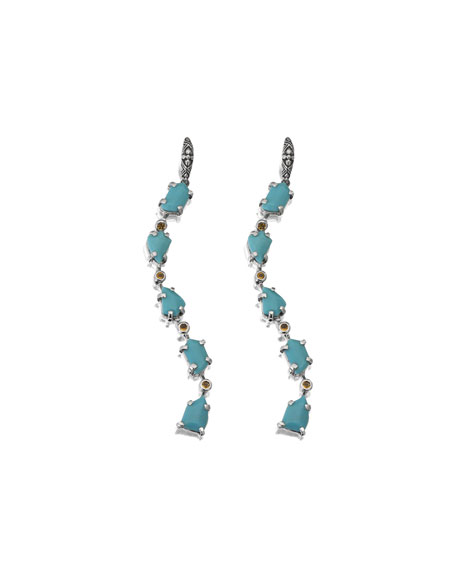 Turquoise Shoulder Duster Earrings
