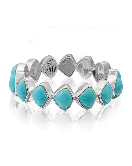 Stephen Dweck Freeform Turquoise Cabochon Bracelet