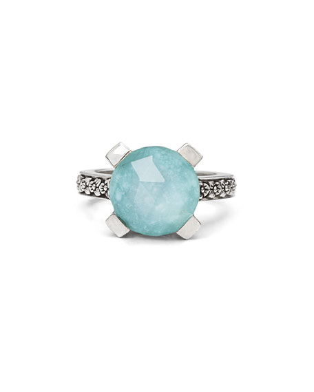 12mm Turquoise Triplet Ring