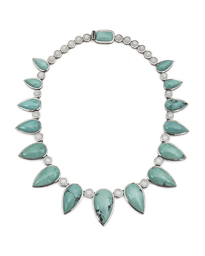 Multi-Station Pear Turquoise Necklace