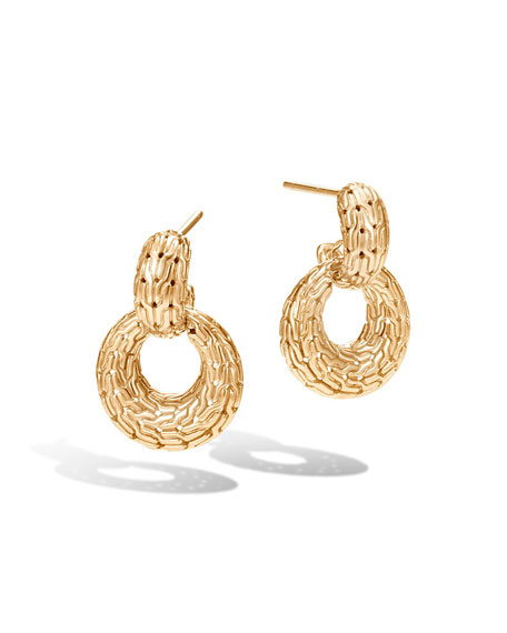 John Hardy Classic Chain Hoop Drop Earrings in