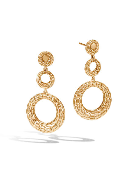 Classic Chain 18K Circle Drop Earrings