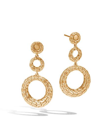 Classic Chain 18K Circle Drop Earrings