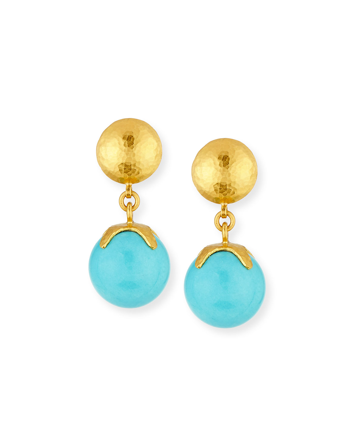 Spell Hue Turquoise Ball Drop Earrings