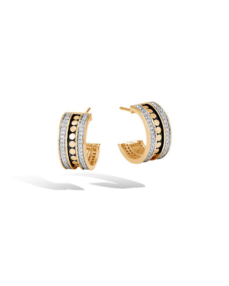 John Hardy Dot 18K Gold Huggie Hoop Earrings