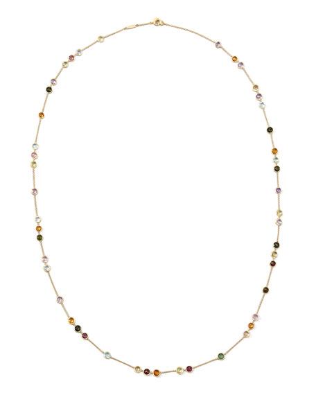 """Jaipur Mini Mixed-Stone Necklace, 35"""""""