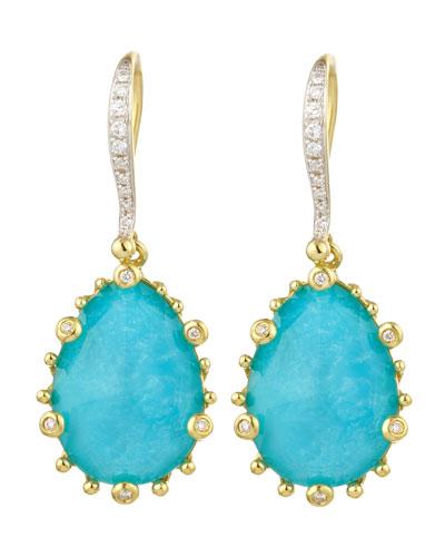Tivoli Turquoise & Diamond Earrings