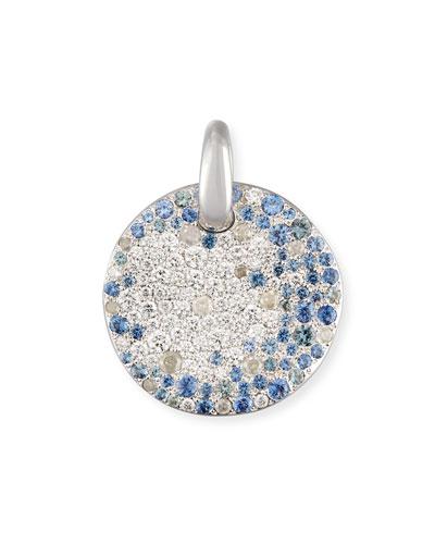 Sabbia Diamond & Sapphire Pendant in 18K White Gold