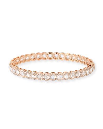 Rose-Cut Diamond Bangle in 18K Rose Gold