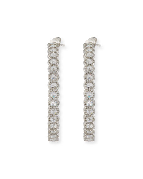 64 Facets Rose-Cut Diamond Hoop Earrings