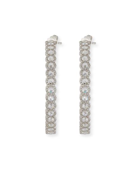 Rose-Cut Diamond Hoop Earrings