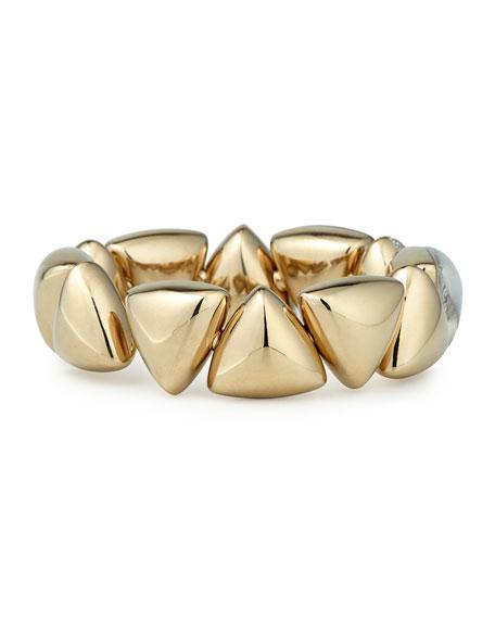 Freccia 18k White Gold Rock Crystal White Mother of Pearl White Diamonds Bracelet