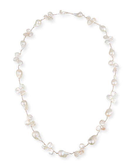 "Baroque & Keshi Pearl Necklace, 35"""