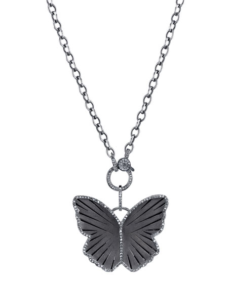Butterfly Necklace with Diamonds
