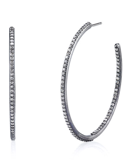 Sheryl Lowe Pavé Diamond Inside-Outside Hoop Earrings
