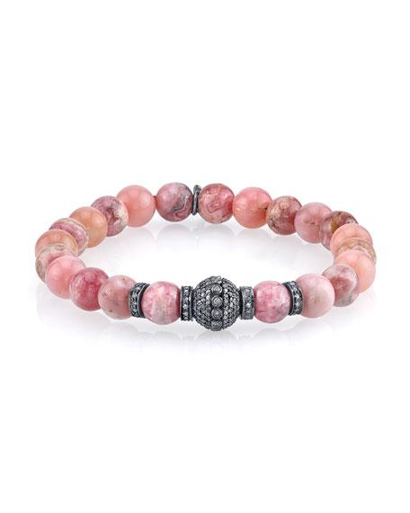 Sheryl Lowe Opal & Rhodochrosite Beaded Bracelet with