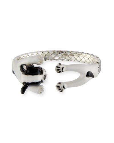 French Bulldog Enameled Dog Hug Bracelet