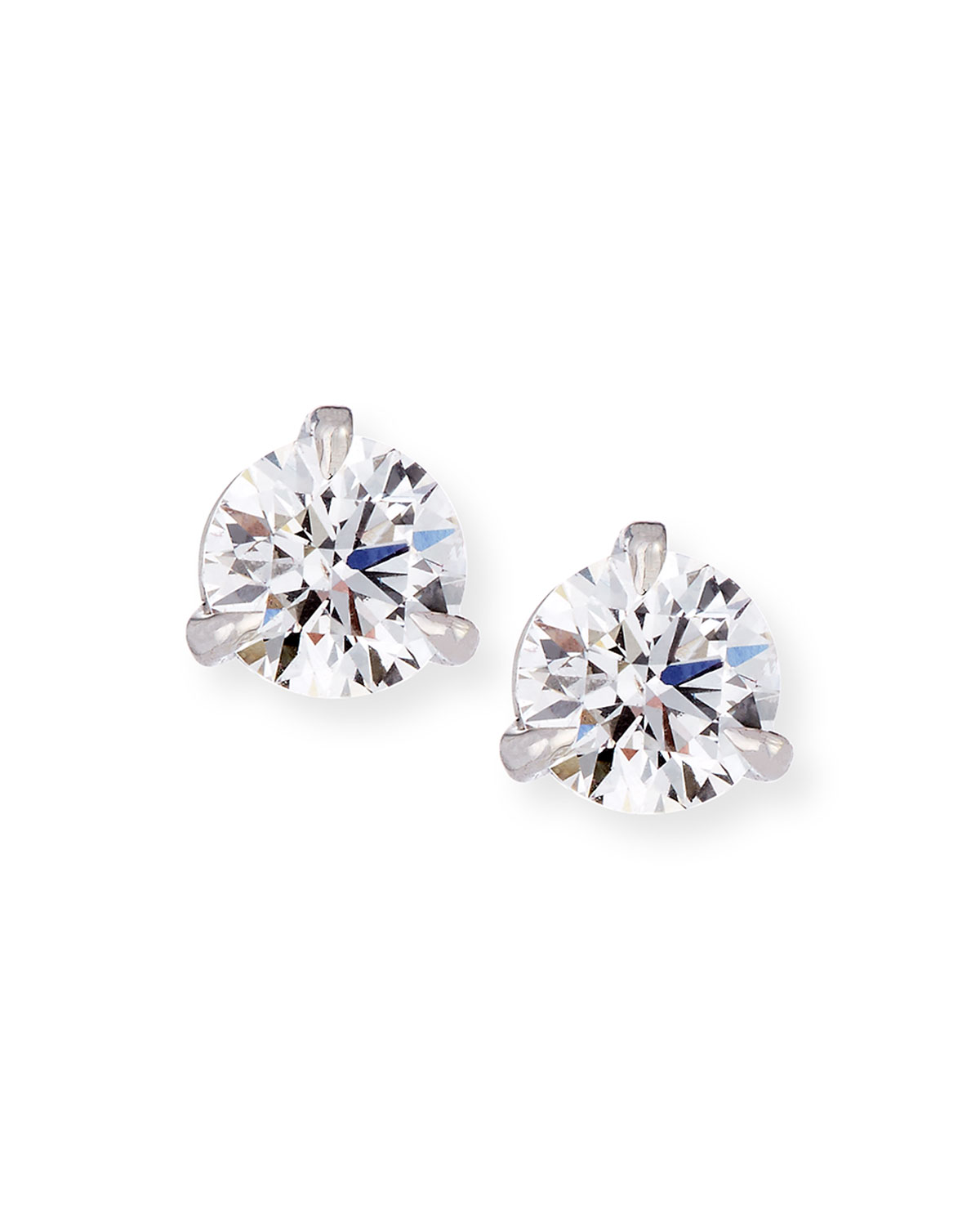 18k White Gold Martini Diamond Stud Earrings 0 51 Tcw