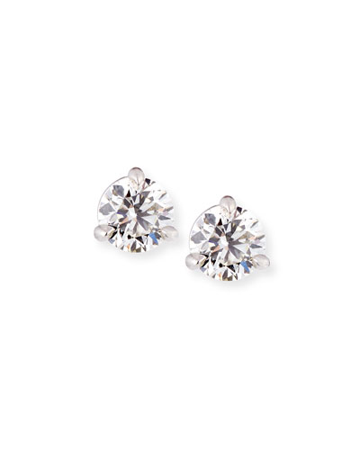 18k White Gold Martini Diamond Stud Earrings, 0.77tcw