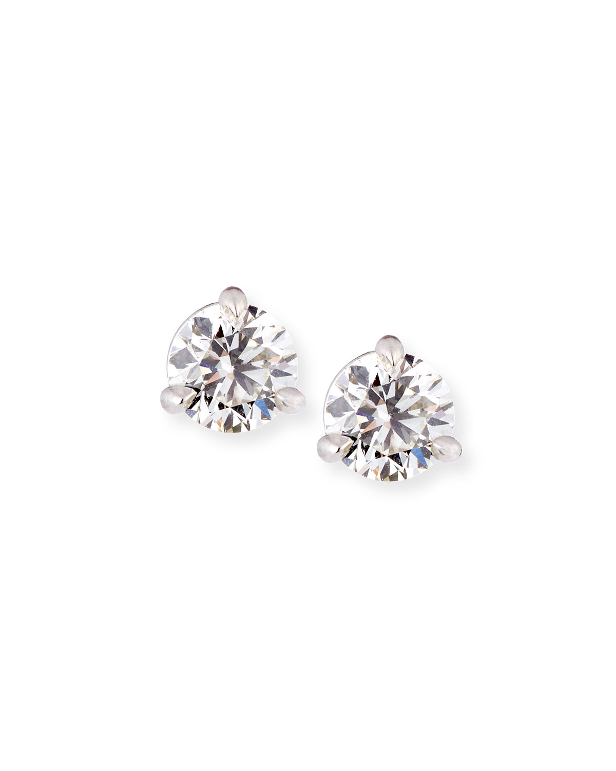 18k White Gold Martini Diamond Stud Earrings 0 77tcw