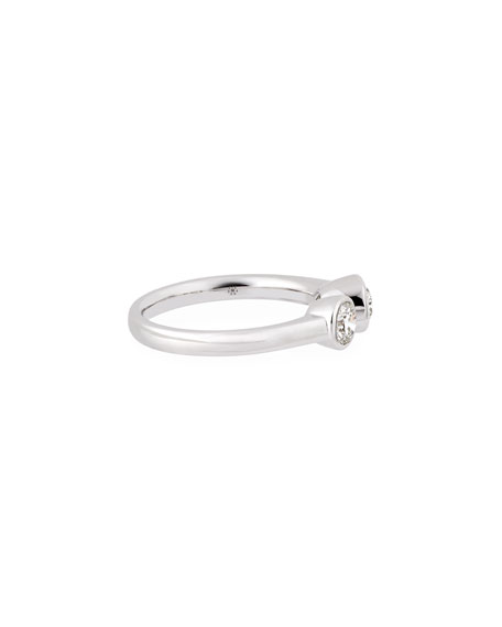 Pear & Round Diamond Side-by-Side Ring, Size 6.5