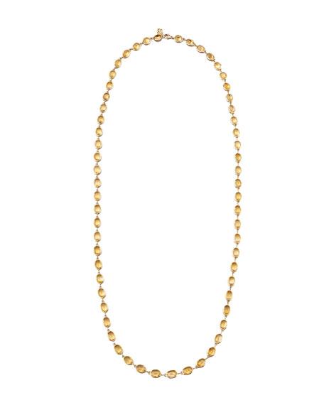 "Citrine Station Necklace in 18K Gold, 36"""