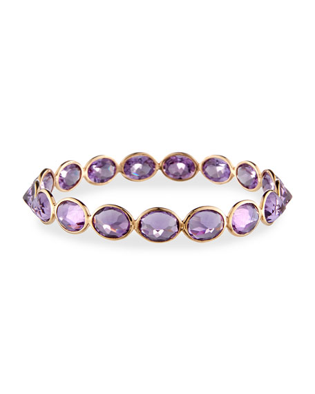 Amethyst Bangle Bracelet in 18K Rose Gold