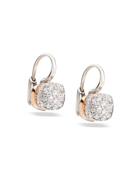 Nudo 18K White & Rose Gold and Diamond Earrings