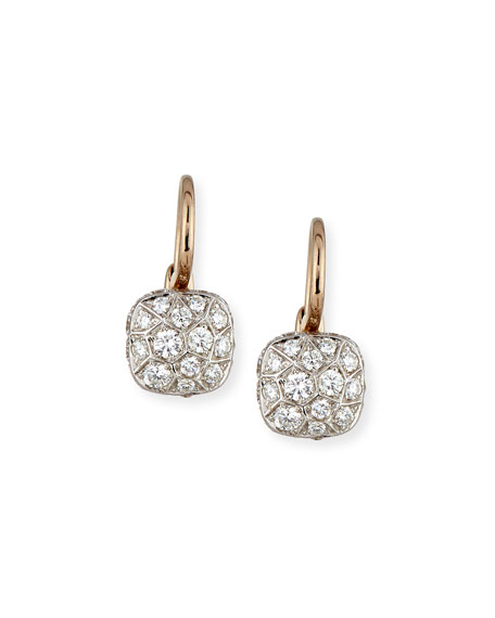 diamond pave omega product white earrings gold clip details