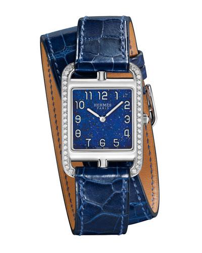 Cape Cod Diamond Watch, Stainless Steel & Alligator Strap