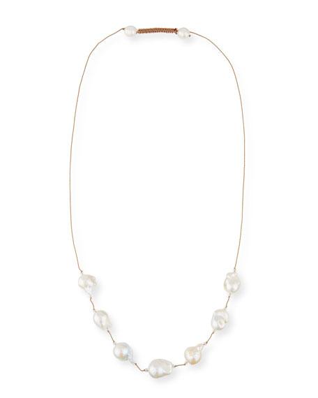 Baroque Pearl & Crystal Necklace