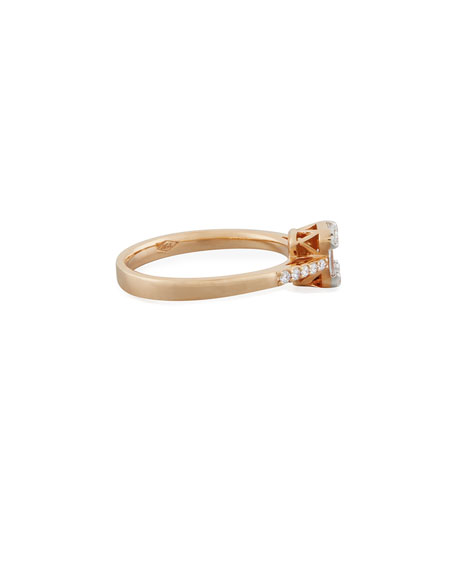 Mosaic Fancy-Cut Diamond Ring in 18K Rose Gold
