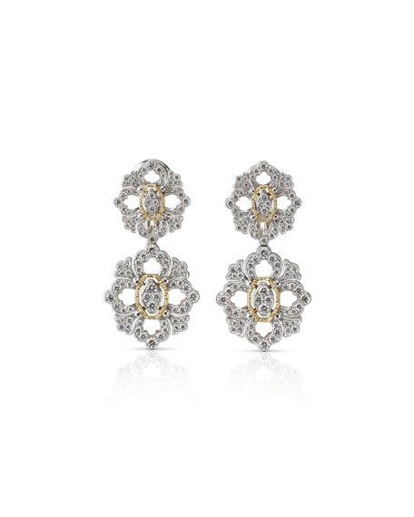 Buccellati Waikiki 18k Short Diamond Drop Earrings 6pkaSKGA