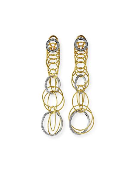 Waikiki 18k Short Diamond Drop Earrings