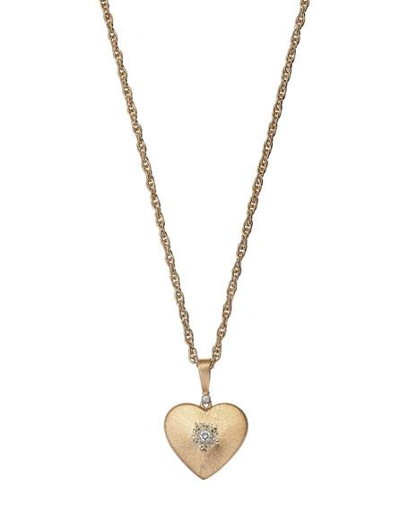 Macri 18k Diamond Heart Pendant Necklace