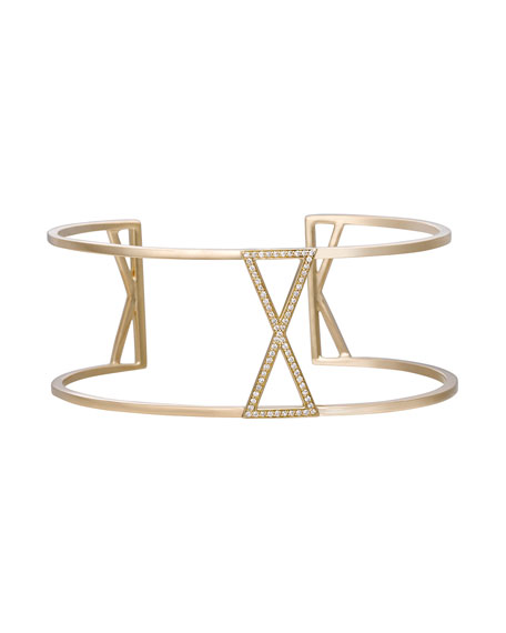 Unity Parallel Cuff Bracelet with Diamonds