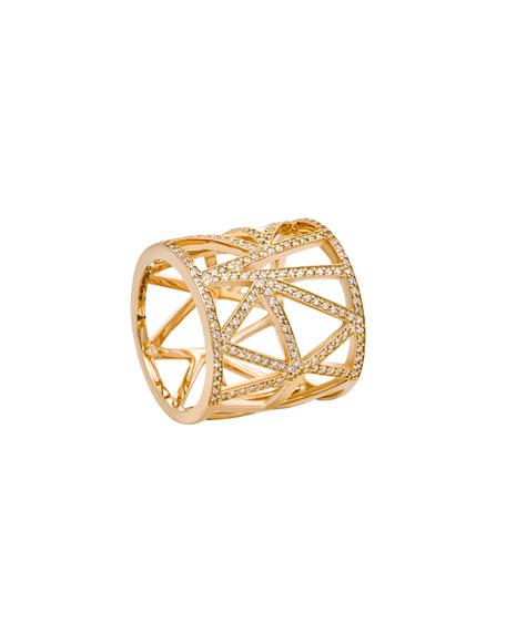 Unity Unbroken Lattice Ring with Diamonds