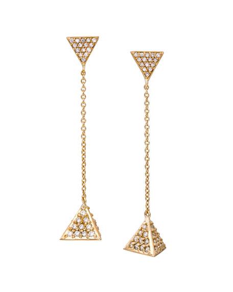 Unity Harmony Pavé Diamond Triangle Earrings