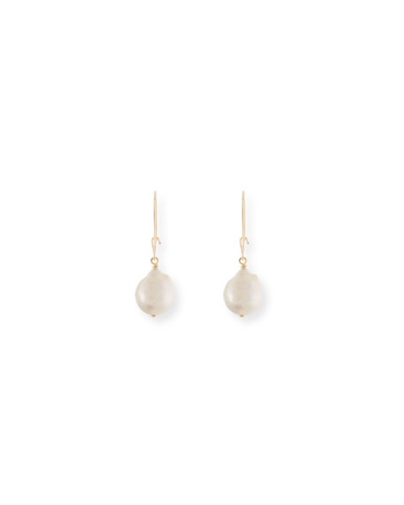 White Baroque Pearl Drop Earrings
