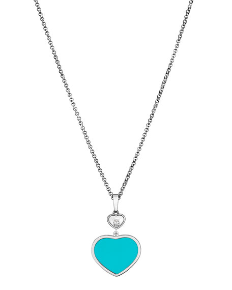 Chopard Happy Hearts 18k Turquoise & Diamond Long