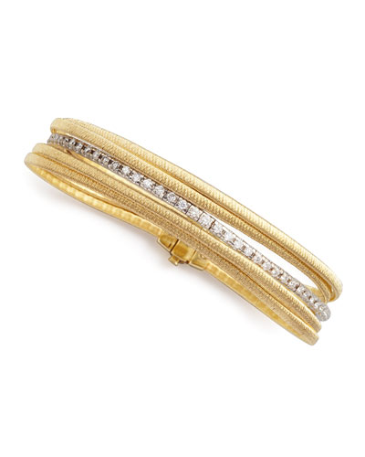 Diamond Cairo 18k Five-Strand Bracelet