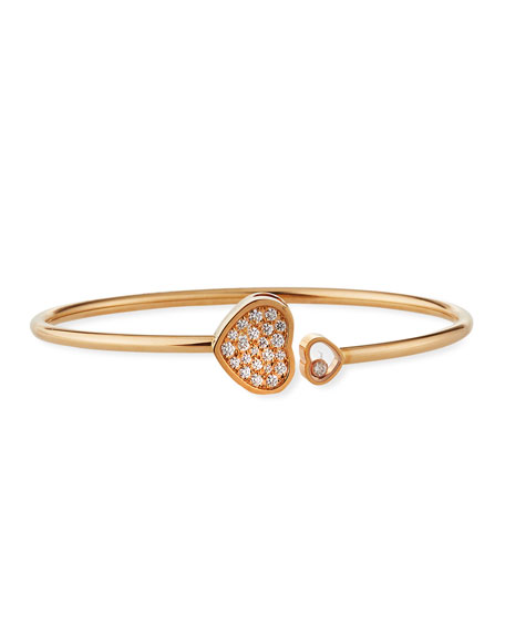 Chopard Happy Hearts 18k Rose Gold Pave Diamond
