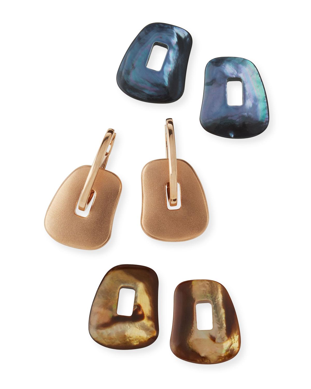 Mattioli Puzzle 18k Interchangeable Hoop Drop Earrings, Set of 3