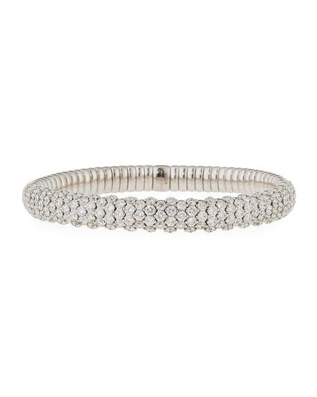Stretch Diamond Bracelet in 18K White Gold