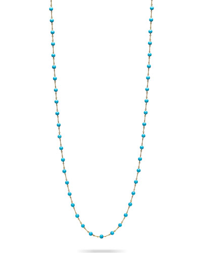 4mm Turquoise Bead & Twist Necklace, 48