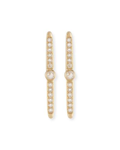 Rose-Cut Diamond Stud Earrings in 14K Yellow Gold