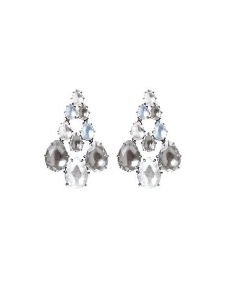 Caterina Rhodium-Washed Chandelier Earrings