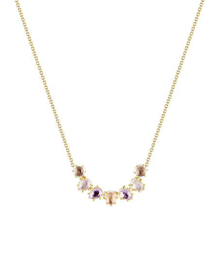 Larkspur & Hawk Caterina Garland Necklace in Multi-Bellini