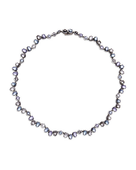 Caterina Garland Riviere Necklace in Hydrangea Foil