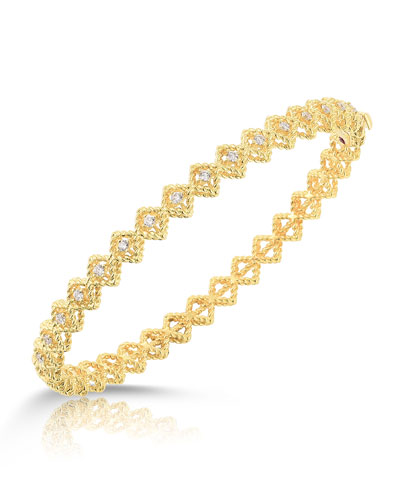 Barocco Single-Row Diamond Bracelet in 18K Gold